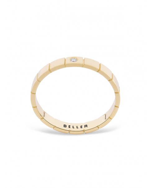 Geometric Gold Band N°10