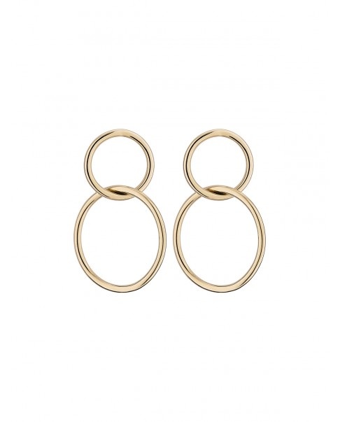 Round Gold Earrings N°27
