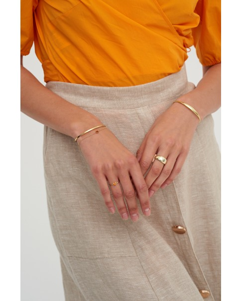 Round Gold Bracelet N°4