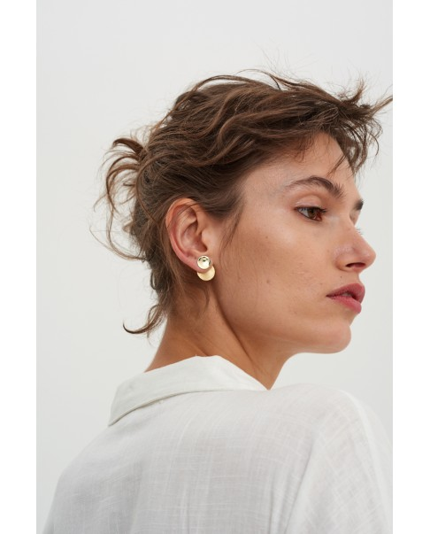Raw Gold Earrings N°21