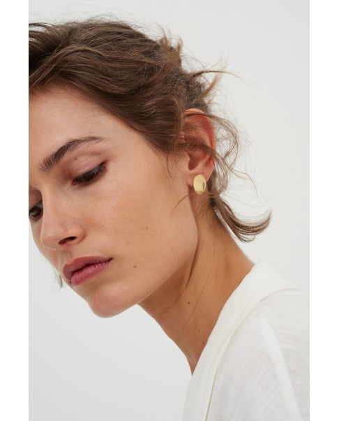 Raw Gold Earrings N°22
