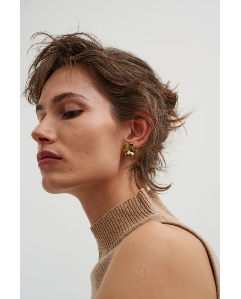 Raw Gold Earrings N°46