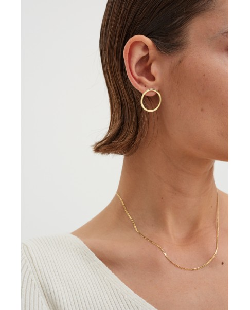 Raw Gold Earrings N°32