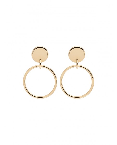 Round Gold Earrings N°31