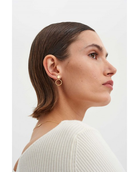 Raw Gold Earrings N°33