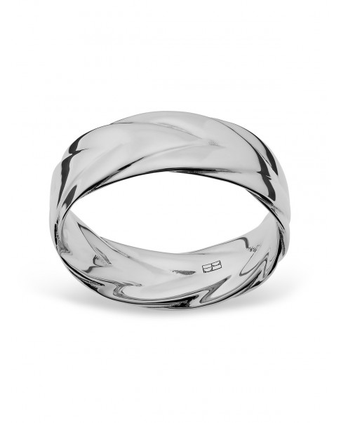 Twirl Srebrny Pierścionek N°44