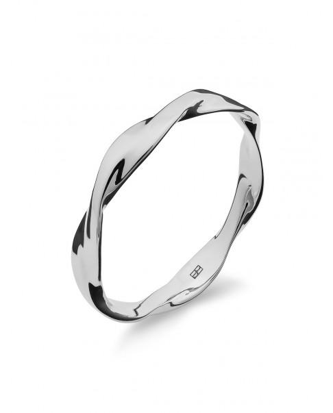 Twirl Srebrny Pierścionek N°47