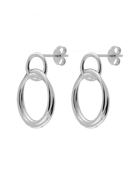 Twirl Silver Earringsi N°71