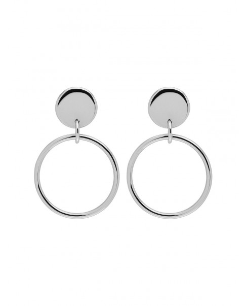 Round Silver Earrings N°73