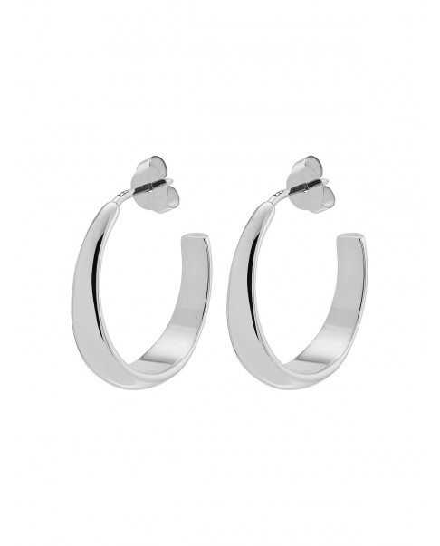Round Silver Earrings N°76