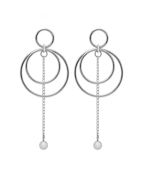 Round Silver Earrings N°78