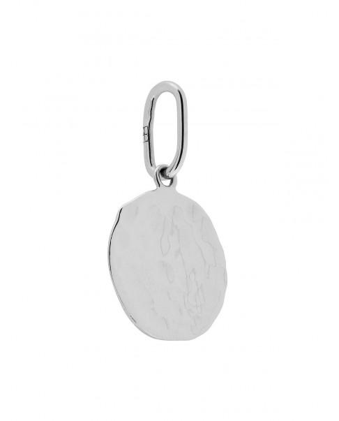 Raw Silver Pendant N°59