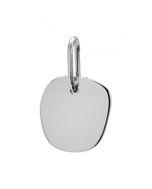 Raw Silver Pendant N°61