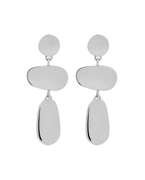 Raw Silver Earrings N°71