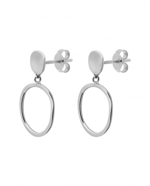 Raw Silver Earrings N°78