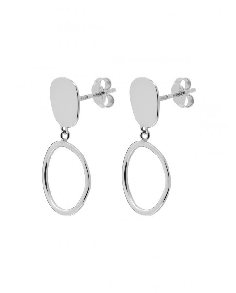Raw Silver Earrings N°81