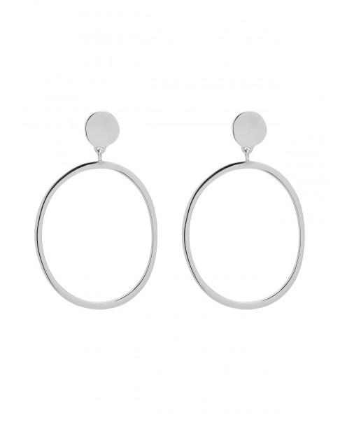 Raw Silver Earrings N°82