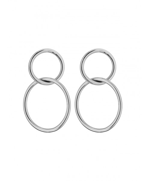Round Silver Earrings N°74
