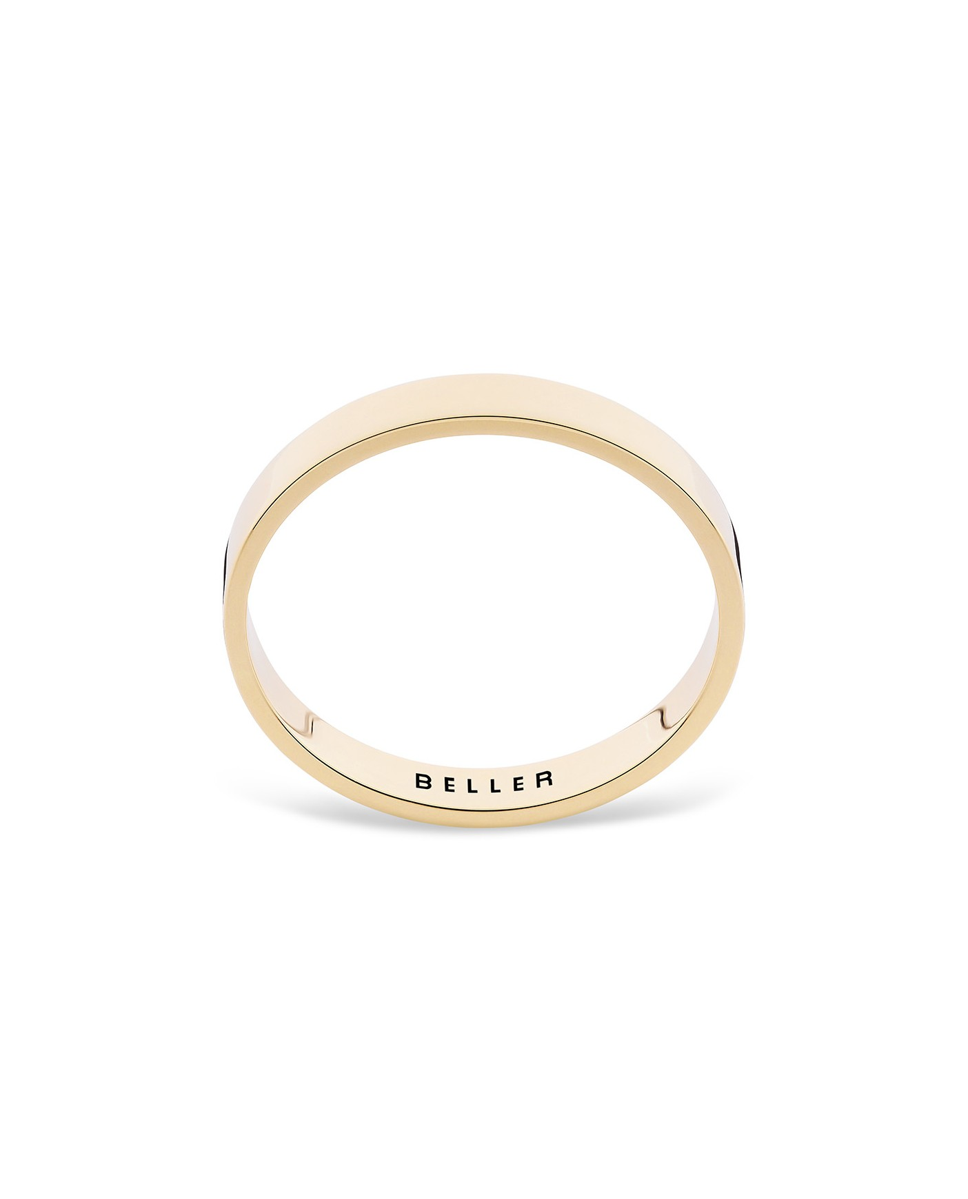 Geometric Gold Wedding Band N°21
