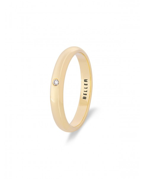 Diamond Gold Wedding Band N°10