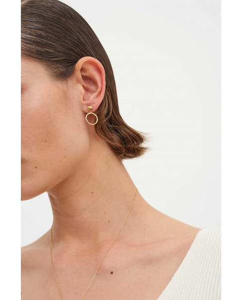 Raw Gold Earrings N°31