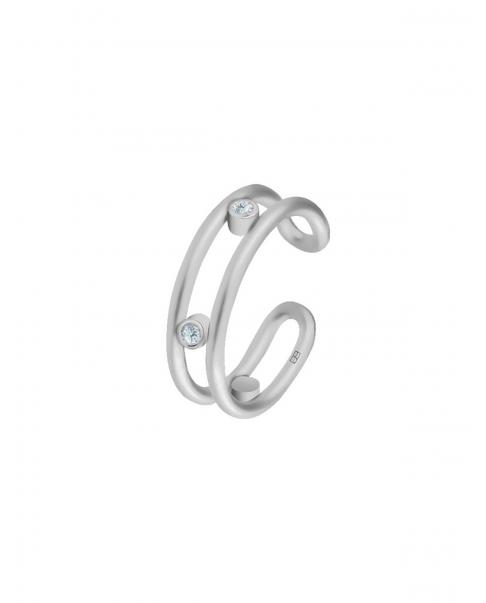 Classic Silver Ear Cuff N°34
