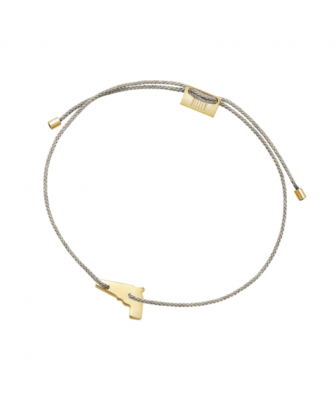 Gold String Bracelet