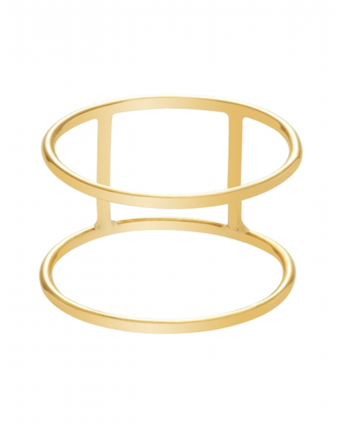 Geometric Gold Ring N°3