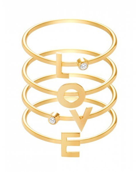 Alphabet Gold Ring N° 3