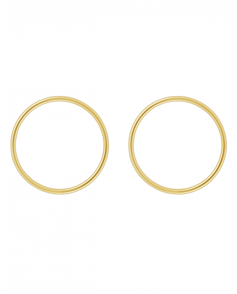 Simple Gold Earrings  N°17
