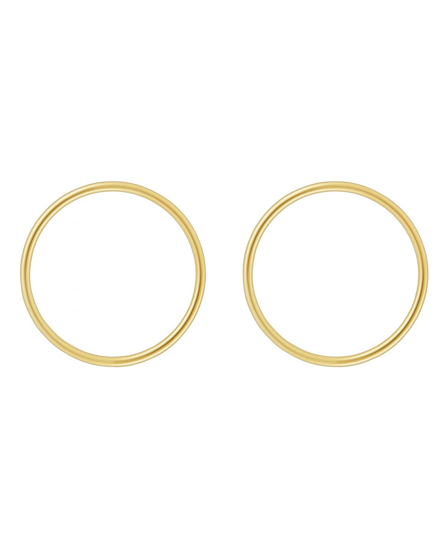 Simple Złote Kolczyki N° 2