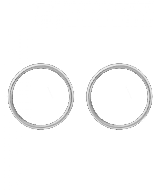 Simple  Srebrne Kolczyki  No 1