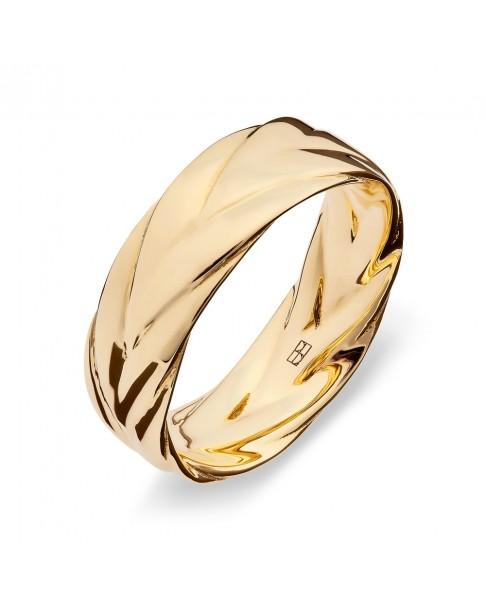 Twirl Złoty Pierścionek N°8